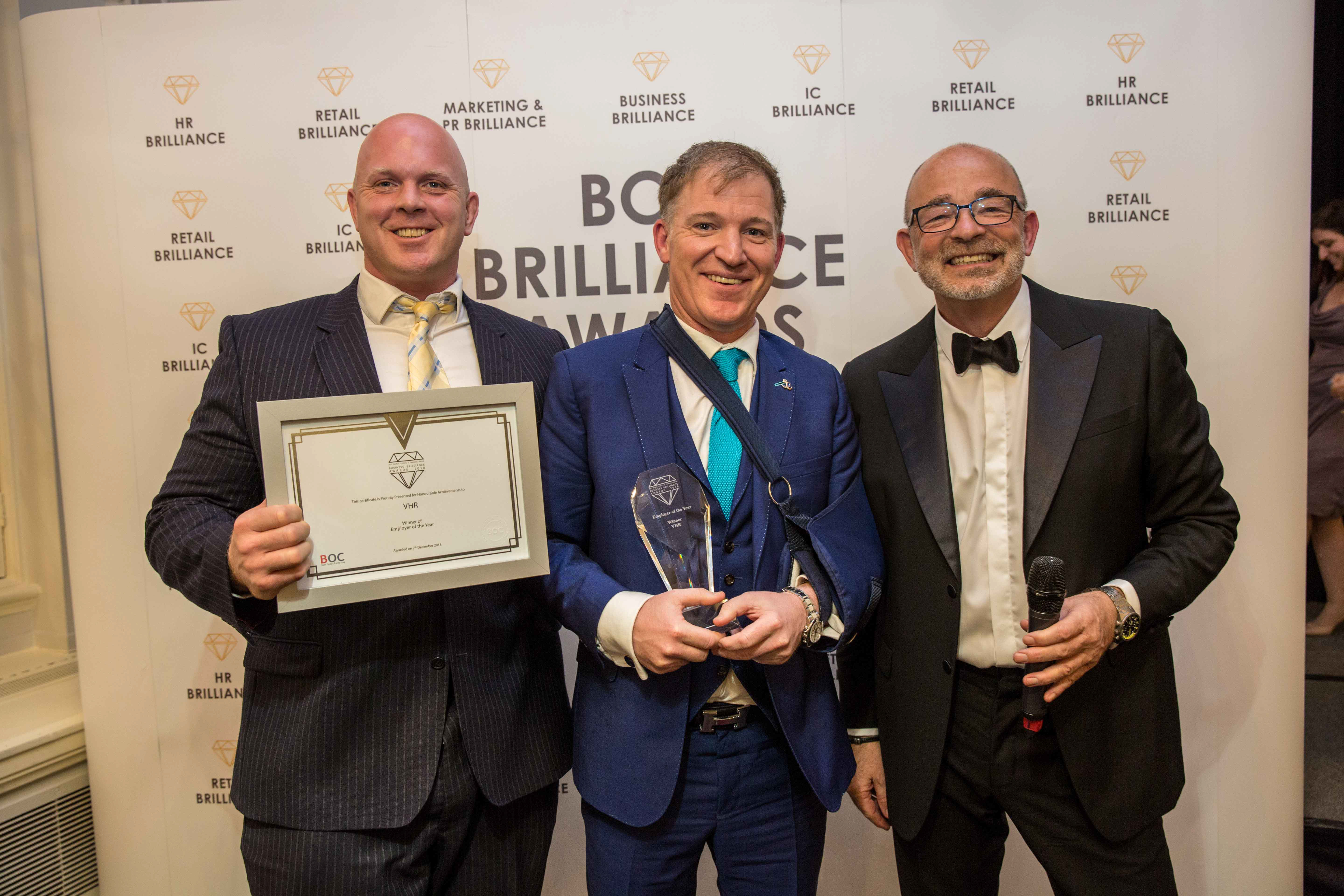 VHRb - Business Brilliance Awards 2018 Winners